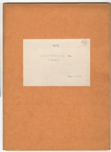 Bilježnica XII.