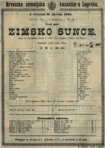 Zimsko sunce slika iz istarskoga života u četiri čina / napisao Viktor Car Emin