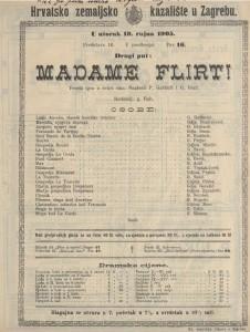 Madame Flirt! vesela igra u četiri čina / napisali P. Gavault i G. Berr