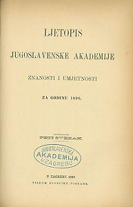 Za godinu 1890. Sv. 5 : Ljetopis