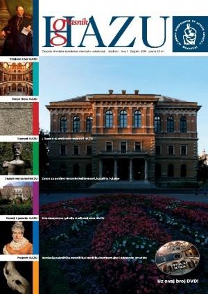 Godina I., broj 1 : Glasnik HAZU : časopis Hrvatske akademije znanosti i umjetnosti