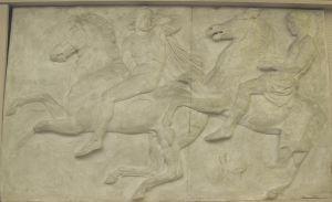 Konjanik, Partenon - zapadni friz