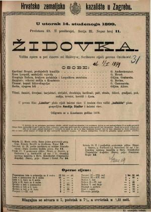 Židovka velika opera u pet činova / od Halévy-a