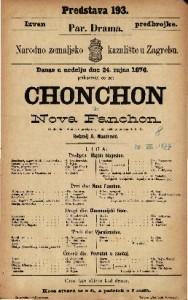 Chonchon ili Nova Fanchon vaudeville u 4 čina s predigrom