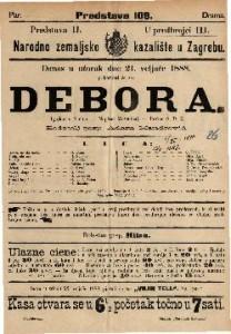 Debora Igrokaz u 4 čina / Napisao Mosenthal