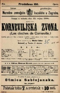 Korneviljska zvona Komična opera u 3 čina / Glasbu skladao Robert Planquette  =  Les cloches de Corneville