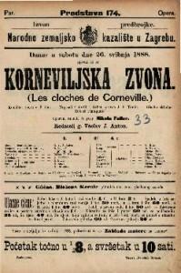 Korneviljska zvona Komična opera u 3 čina / Glasbu skladao Robert Planquette  =  Les clochec de Corneville