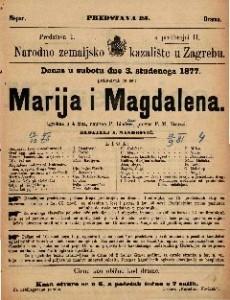 Marija i Magdalena : igrokaz u 4 čina / napisao P. Lindau