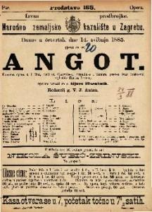 Angot Komična opera u 3 čina / uglasbio Charles Lecocq