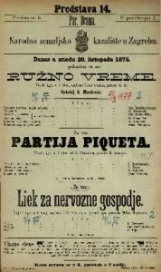 Ružno vreme ; Partija Piqueta ; Liek za nervozne gospodje vesela igra u 1 činu ; Vesela igra u 1 činu ; Šaljiva igra u 1 činu / napisao Leon Gozlan