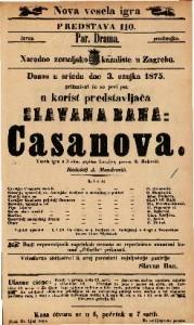 Casanova Vesela igra u 3 čina / napisao Lavrijer