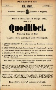 Quodlibet  / Ravnatelj Ivan pl. Zajc