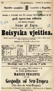 Boisyska vještica Šaljiva romantična igro-opera (Spieloper) u 3 čina