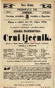 Crni lječnik Drama u 5 činah / napisali francezki Amicet Bourgois i Dumanoir