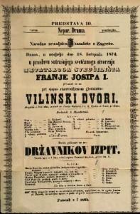 Vilinski dvori Alegorija u dvie slike / napisali dr. Franjo Marković i I. T. ; Glasba od Ivana pl. Zajca