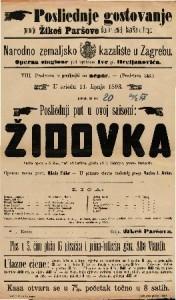 Židovka Velika opera u 5 čina / glasba od F. Halévy-a