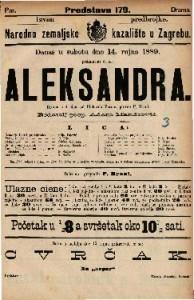 Aleksandra : Drama u 4 čina / od Richarda Voss-a