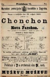 Chonchon ili Nova Fanchon Gluma s pjevanjem u 4 čina i predigrom / Napisao N. F.