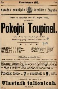 Pokojni Toupinel Lakrdija u 3 čina / napisao Alex. Bisson
