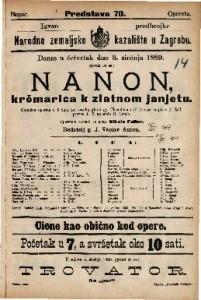 Nanon, krčmarica k zlatnom janjetu Komična opereta u 3 čina / uglasbio R. Genée