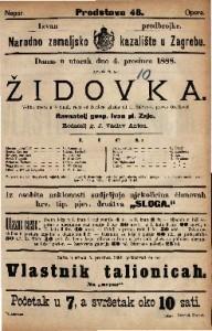 Židovka Veliki opera u 5 činah / glasba od F. Halévy-a