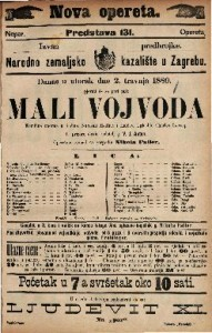Mali vojvoda Komična opereta u 3 čina / Uglasbio Charles Lecocq