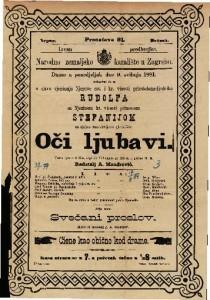Oči ljubavi vesela igra u 3 čina / napisala Vilhelmiina pl. Hileru