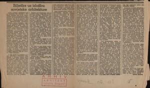 Bilješke uz izložbu sovjetske arhitekture : Vjesnik