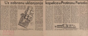 Uz zabranu uklanjanja kapelica u Protironu Peristila : Slobodna Dalmacija