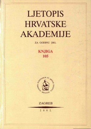 2001. Knj. 105 : Ljetopis