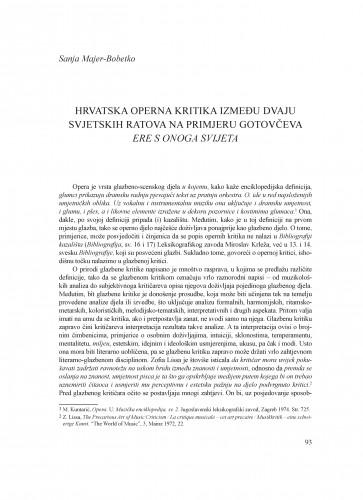 Hrvatska operna kritika između dvaju svjetskih ratova na primjeru Gotovčeva Ere s onoga svijeta : Krležini dani u Osijeku