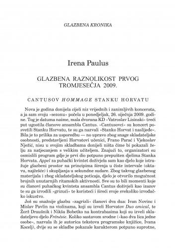 Glazbena raznolikost prvog tromjesečja 2009. : glazbena kronika : Forum : mjesečnik Razreda za književnost Hrvatske akademije znanosti i umjetnosti.