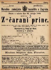 Začarani princ Komična opera u 3 čina / uglasbio V. Hrimaly