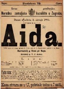 Aida : Velika opera u 4 čina / uglasbio G. Verdi