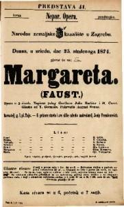 Margareta (Faust) Opera u 5 činah / Napisao polag Goethe-a Julio Barbier i M. Carre ; Glasba od T. Gounoda