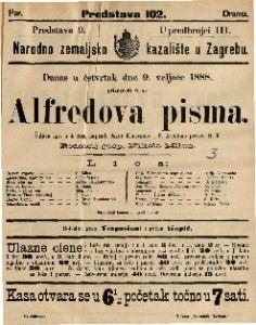 Alfredova pisma : Šaljiva igra u 4 čina / napisali Oskar Klaussman i F. Brentano