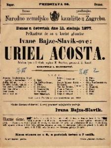 Uriel Acosta žalobna igra u 5 činah / napisao K. Gutzkov