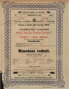 Nenadane radosti slika iz života u 1 činu / prigodom proslave srebrnog pira napisao N. Milan