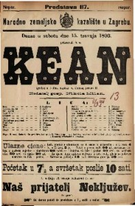 Kean Igrokaz u 5 čina / napisao A. Dumas