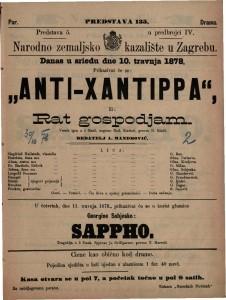 Anti-Xantippa ili Rat gospodjam vesela igra u 5 činah / napisao Rud. Kneisel
