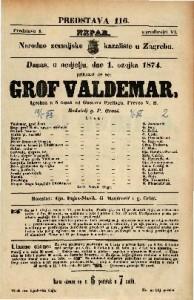 Grof Valdemar Igrokaz u 5 činah / od Gustava Freitega