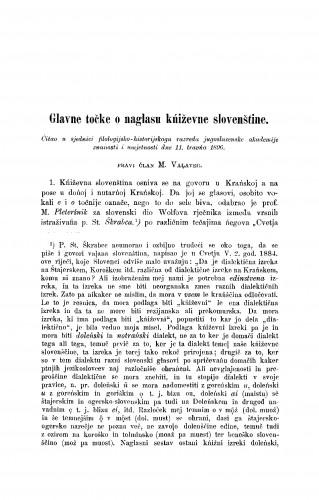 Glavne točke o naglasu kniževne slovenštine