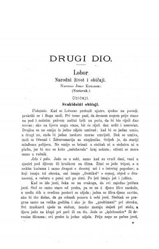Lobor : narodni život i običaji / J. Kotarski