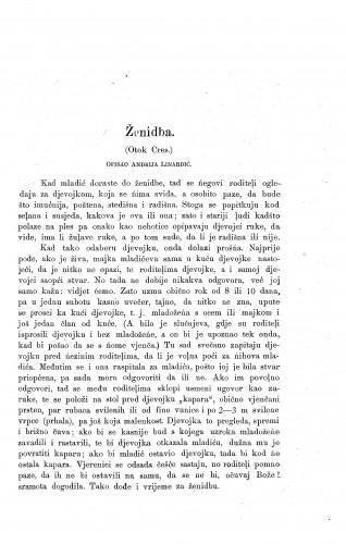 Ženidba : (Otok Cres) / A. Linardić