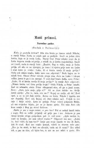 Narodne gatke : (Budak u Dalmaciji.) / G. Petković