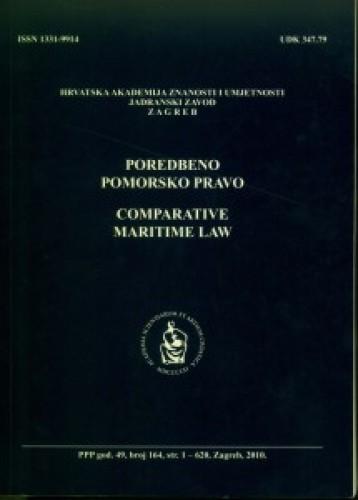 Br. 164(2010) = god. 49 : Poredbeno pomorsko pravo