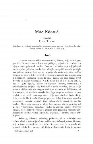 Mišo Kišpatić [Prikaz života i rada.]