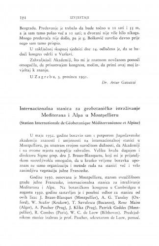 Internacionalna stanica za geobotaničko istraživanje Mediterana i alpa u Montpellieru / I. Horvat