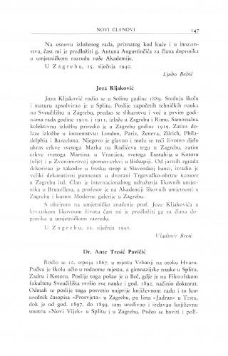 Joza Kljaković ; Dr. Ante Tresić Pavičić / V. Becić ; B. Širola