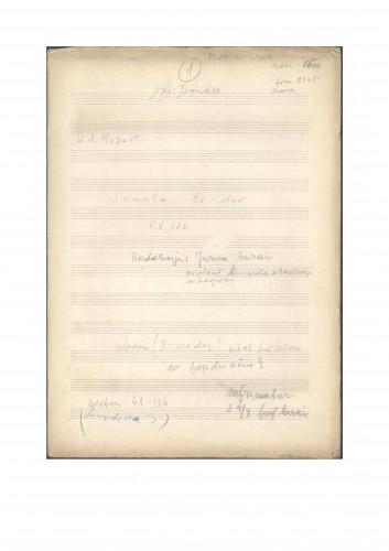Sonata Es-dur K. V. 282